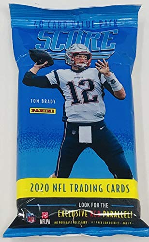 2020 Score NFL Football AWESOME Factory Sealed JUMBO FAT PACK with 40 Cards Including (6) RC & (7) PARALLEL/INSERTS! Look for Tom Brady Tribute & RC & AUTOS of Justin Herbert, Tua Tagovailo & More!