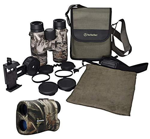 TecTecTec PROWILD Hunting Rangefinder and BPRO Wild 10x42 Binoculars Camo