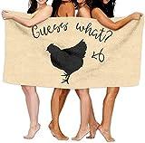 AGCXDUnisex Guess What Chicken Toallas de Playa Toallas Toallas de baño para Adolescentes...