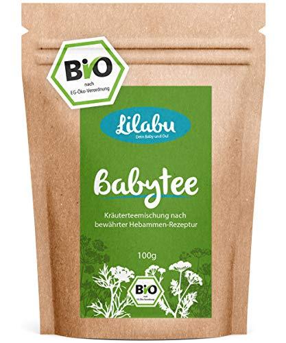 Lilabu Babytee 100g Bio - Bio-Bäuchleintee - 100% Bio-Zutaten, ohne Zusätze - reines Naturprodukt nach altem Hebammenrezept - empfohlen von miBaby.de