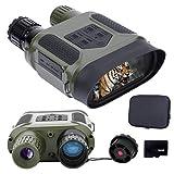 Prismáticos Infrarrojos Gafas de Visión Nocturna con Tarjeta de Memoria de 32 GB para Foto y Video 100% Visión Nítida en la Oscuridad Equipo de Caza y Vigilancia
