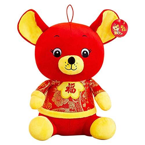 2020 Chinese New Year Ratte Puppe, Traditionelle Lucky Zodiac Ratte Puppe, Neujahr Kawaii Ratte Plüschtiere Segen Souvenir Geschenk, Niedliche Plüsch Ratte Puppe Für Weihnachten Home Decoration