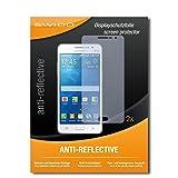 SWIDO Schutzfolie für Samsung Galaxy Grand Prime [2 Stück] Anti-Reflex MATT Entspiegelnd, Hoher Festigkeitgrad, Schutz vor Kratzer/Bildschirmschutz, Bildschirmschutzfolie, Panzerglas-Folie