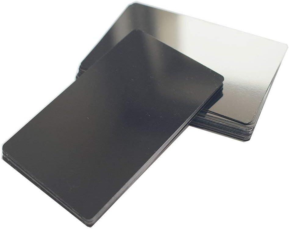 Retermit Overseas parallel import regular item 50pcs Laser Engraved Metal Blanks Business Genuine 3.4x2. Cards