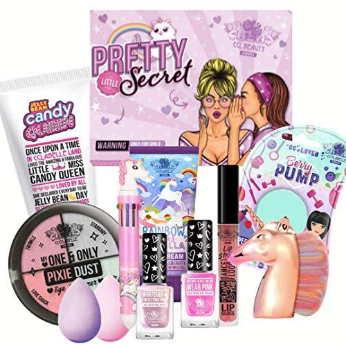 Beauty Glam Box von CCL Beauty Geschenk Set 10 tolle Makeup Produkte, Beauty Blender, Lip Gloss Strobe, Body Lotion & Mehr !