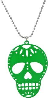 Green Enamel Sugar Skull Necklace DOD