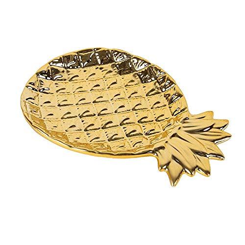 Soporte de exhibición de joyas Organizador de exhibición de joyas de piña Anillos Pulseras Pendientes Bandejas de exhibición de platos Cajas de exhibición de joyas y organizadores (Gratis, 17x13x