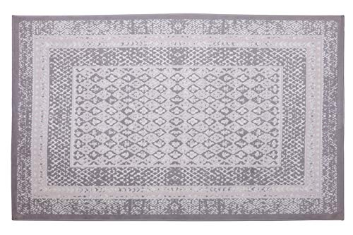 Furnish My Place Bordered Transitional Rug - 2 ft. x 4 ft, Peach, Polypropylene Accent Rug with Geometric Pattern