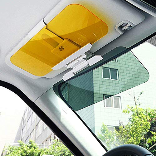 BIGMALL 2Er Pack Auto Anti-Glare Tag- Und Nachtsicht-Sonnenblende, Multifunktionaler Auto-Sonnenschutz- Und Nachtsicht-Visier-Extender, Windschutzscheiben-Fahrvisier