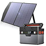 ALLPOWERS Mini Portable Power Station 300W, 288Wh/110V/78000mAh Backup Battery Power Supply with Portable Solar Panel 100W, Foldable Solar Panel Charger for Home Use Camping Emergency