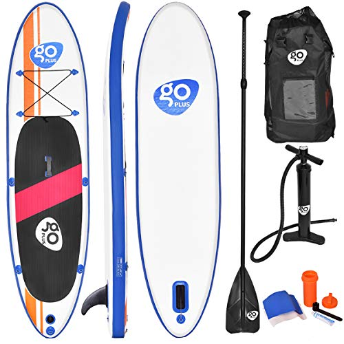 Goplus Inflatable Stand Up Paddle Board Package w/Fin Adjustable...