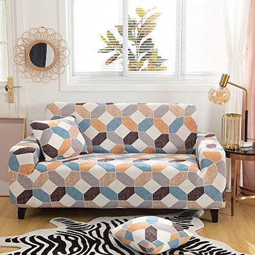 WXQY Fundas elásticas con Tiras Cruzadas Elásticas Totalmente envueltas Funda de sofá Antipolvo Funda de sofá Funda de sillón Toalla de sofá A3 2 plazas