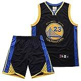 #23 Draymond Green Golden State Warriors Hombre Camiseta de Baloncesto, 2-Pieza de la Parte Superior de Baloncesto Rendimiento Mangas y Pantalones Cortos Set,Negro,M