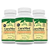 Terry Naturally CuraMed 200 mg (3 Pack) - 60 Vegan Capsules - Superior Absorption BCM-95 Curcumin Supplement, Promotes Healthy Inflammation Response - Non-GMO, Gluten-Free, Kosher - 180 Servings