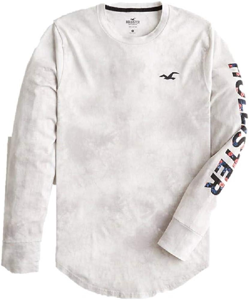 Hollister - Camiseta de manga corta con cuello redondo ...
