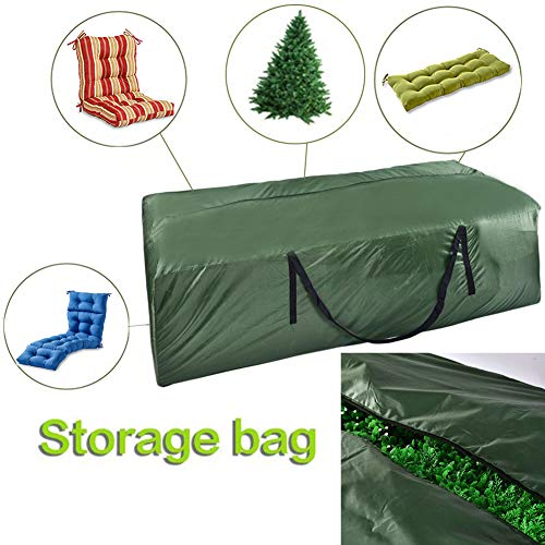 Cushion Storage Bags - Durable 210D Denier Outdoor Cushion Bags,Premium Zippered Patio Storage Bags with Handles
