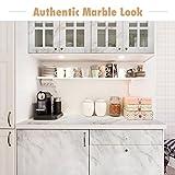 Homein Möbelfolie Marmor Folie Klebefolie Vinyl Selbstklebend Dekorfolie Fensteraufkleber PVC Aufkleber für Möbel Küche Küchenschrank Granit 44.5 x 200 cm - 8