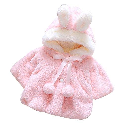 Giacche Bambino Invernali,Homebaby Giacca del Mantello del Cappotto di Inverno della Neonata Giubbotto Vestiti Caldi Spessi Felpa Maniche Lunghe