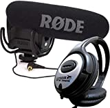 Rode VideoMic Pro Rycote Videocámara Cámara Micrófono + Auriculares Keepdrum