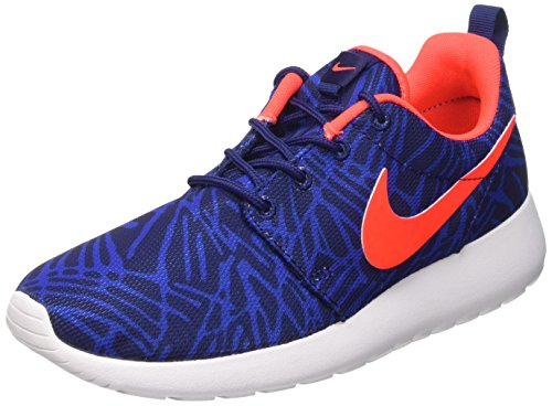 Nike Women's WMNS Roshe ONE Print Sneakers, Blue 464 Lyl Bl Brght Crmsn Gm RYL Wht, 4 UK