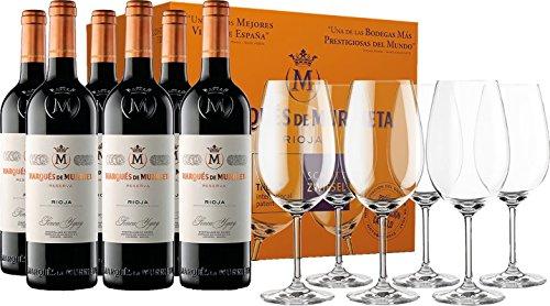 6 Marqués de Murrieta Reserva + 6 copas Schott Zwiesel GRATIS