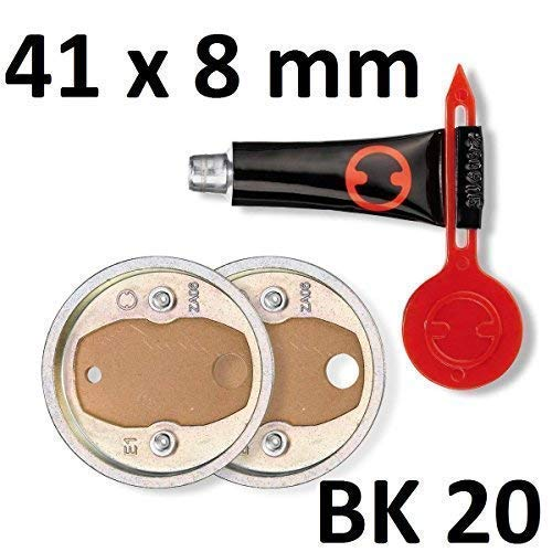 last-min-warenhandel 2 x Nie Wieder Bohren 41 mm x 8 mm max 6 kg Adapter BK 20 BK20 PB20 Zamakring