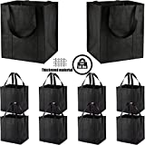10 Pack Large Reusable Grocery Bags with Reinforced Handles - Heavy Duty Shopping Tote bags can Hold 50 LBS, Flodable, Eco-Friendly