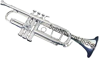 Queen Brass Top Grade Quality Beautifully Crafted Flat Silver Trumpet Along With Mouthpiece MI 099