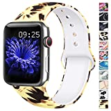 AK Compatible Apple Watch Bracelet 38mm 40mm, Bracelet de Sport en Silicone Remplacement Compatible...