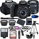 Canon EOS 250D (Rebel SL3) DSLR Camera Bundle with 18-55mm STM Lens + 64GB Memory Card + Accessory Kit