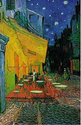 van Gogh Café de nuit Straßencafe Poster, Poster 91 x 61 cm