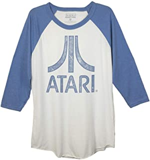 Ripple Junction Atari Super Distressed Atari Logo Adult Baseball Raglan 3/4 Sleeve