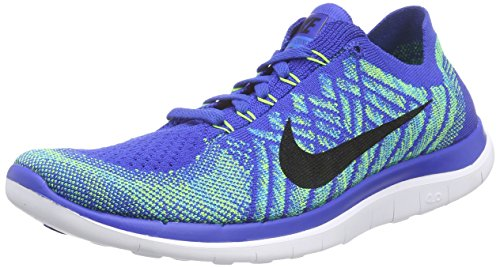 NIKE Men's Free 4.0 Flyknit Running Game Royal/Black/Photo Blue Shoes - 11