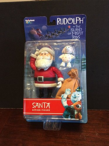 Rudolph and the Island of Misfit Toys Action Figure - Santa with Spotted Elephant