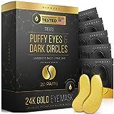 24K Gold Eye Mask– 20 Pairs - Puffy Eyes...