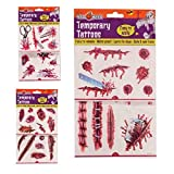 Halloween Temporary Tattoos Wounds/Scars Fancy Dress Accessory