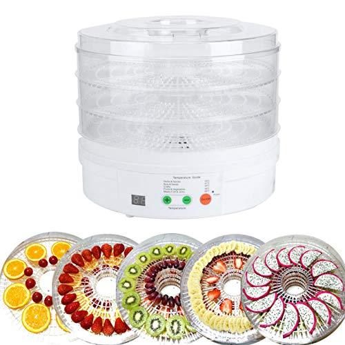 01 Deshidratador de Alimentos, Secadora de Alimentos, 350 W para Frutas y Verduras(Pink)