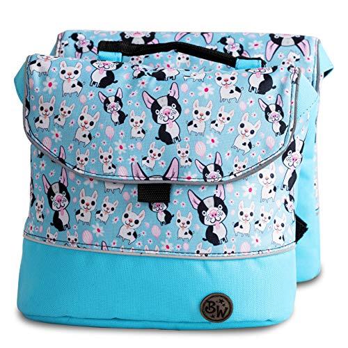 BambinIWelt Gepäcktasche, Gepäckträgertasche für Fahrrad, Fahrradtasche für Kinder, wasserabweisend, z.B. für alle Puky Räder (Modell 06)