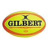 Gilbert Omega - Ballon de Match de Rugby Bleu/Noir - taille Size 4