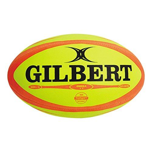 Gilbert Rugbyball Omega Match, Neongelb / Orange 37