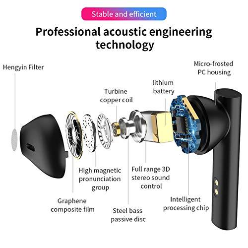 Ecouteur Bluetooth, Ecouteurs sans Fil Sport IPX7 Oreillette Bluetooth 5.0 Stereo Tactile Micro Intégré 40H d'Autonomie Assistant Vocal pour iPhone Samsung Huawei Android iOS Smartphone PC TV