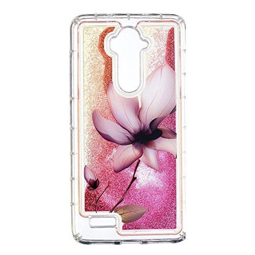 COZY HUT ZTE Z986 Glitzer Hülle, Treibsand 3D Shiny Transparent Back Cover Glitzer Handyhülle Skin Schale Beschützer Haut Case für ZTE Z986 - Lotus