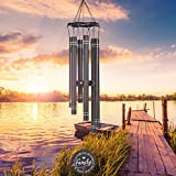 Noble House Sympathy Wind Chimes Outdoor Deep Tone, 33 inch Memorial Wind Chimes for Loss of The Loved One Prime, in Loving Memory Wind Chimes, Indoor and Outdoor Decor for Your Garden,Yard and Patio