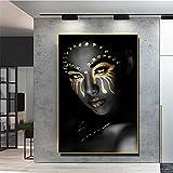 Diamond Painting 5D,Mujer de color Cuadro Diamante DIY para...