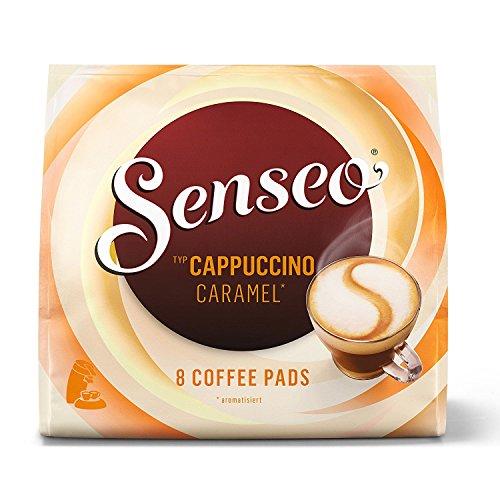 Senseo Pads Cappuccino Caramel, 8 Kaffeepads für 8 Getränke