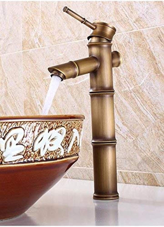 Ywqwdae Bambus Warm Und Kalt Europischen Retro Stil Waschbecken Erhhen Hohe Einhand Kupfer Sink Taps