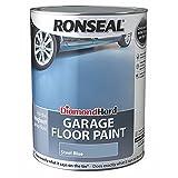 Ronseal DHGFPSB5L Diamond Hard Garage Floor Paint Steel Blue 5 Litre