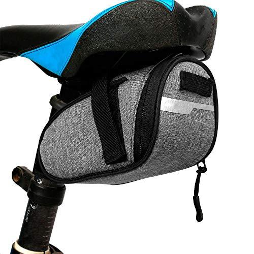 JYLilian Bolsa para sillín de bicicleta, portátil, impermeable, bolsa de asiento de...
