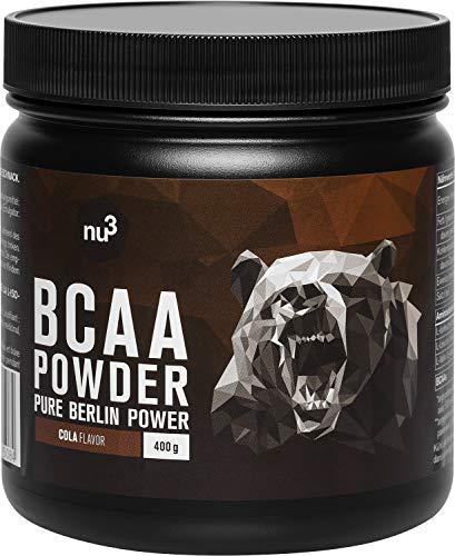 nu3 BCAA Vegan en poudre 400g Pastèque - Acides aminés pendant l'effort sportif pour la récupération - Apport d'énergie optimal pour les muscles et les athlètes - Réuduit les courbatures