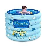 YUHT Aufblasbarer Pool, aufblasbare Badewanne, Babypool, aufblasbarer Babyteppich, Klappbecken mit Luftpumpe und Badring, PVC-Dicke - Für Babys